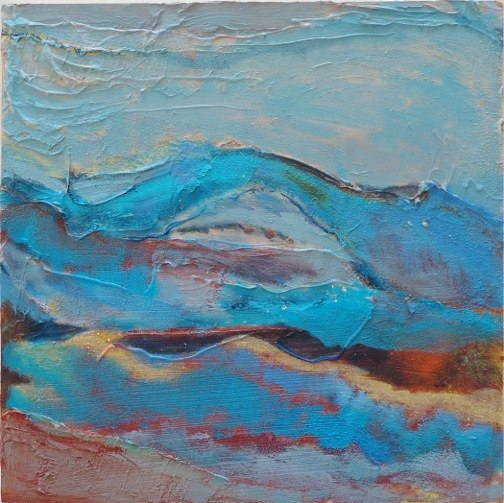 4-BethBarry Turquoise Cave 12x12in acrylic on board 2012
