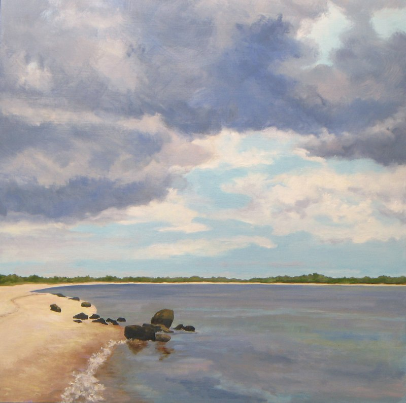 North Haven Rain Cloud 24 x24 oil on wood