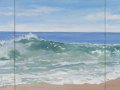 Casey Chalem Anderson 12 x 36 Three Panel Wave 2400