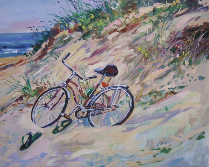 beach bike on dunes