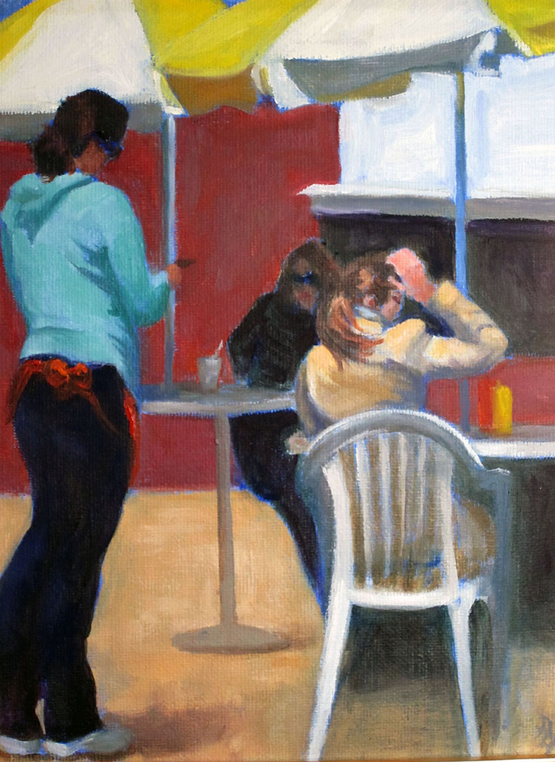 MAY I TAKE YOUR ORDER?, oil, 12x8