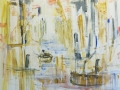 Rosalind Brenner_City Dock Channel_48 x 48 Acrylic on Canvas